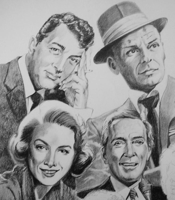 Dean Martin, Frank Sinatra, Rosemary Clooney, Andy Williams by Tom-Heyburn